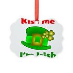 Kiss Me I'm Irish Hat ver2 Picture Ornament