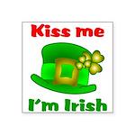 Kiss Me I'm Irish Hat ver2 Square Sticker 3