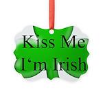 Kiss Me I'm Irish Picture Ornament