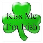 Kiss Me I'm Irish Square Car Magnet 3