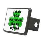 Not Irish, Kiss Me Rectangular Hitch Cover