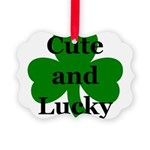 Cute and Lucky Shamrock Picture Ornament
