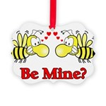 Be Mine Bees Picture Ornament
