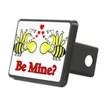 Be Mine Bees Rectangular Hitch Cover