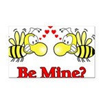 Be Mine Bees Rectangle Car Magnet