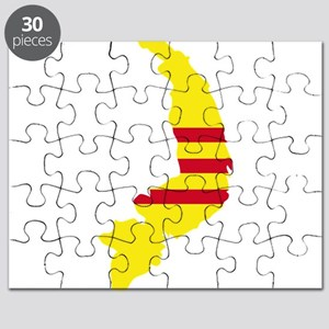 South Vietnam Flag and Map Puzzle