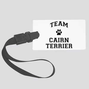 Team Cairn Terrier Large Luggage Tag