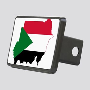 Sudan Flag and Map Rectangular Hitch Cover