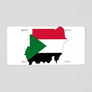 Sudan Flag and Map Aluminum License Plate