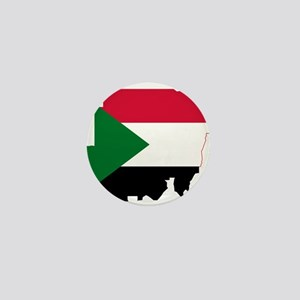 Sudan Flag and Map Mini Button