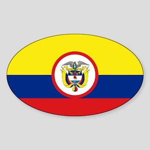 Bandera Presidencial Colombia Oval Sticker