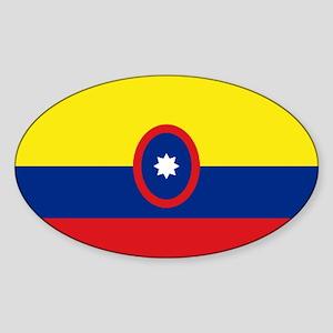 Insignia Civil Colombiana Oval Sticker