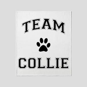 Team Collie Throw Blanket