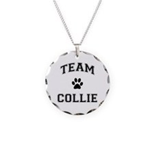 Team Collie Necklace Circle Charm