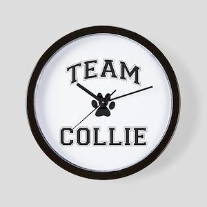 Team Collie Wall Clock