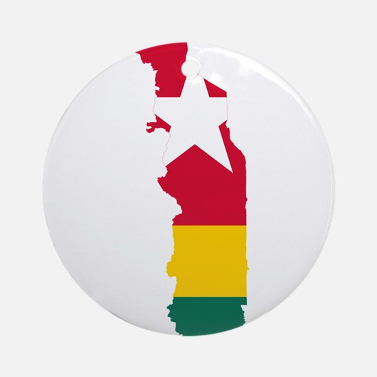 Togo Flag and Map Ornament (Round)