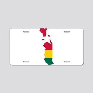 Togo Flag and Map Aluminum License Plate