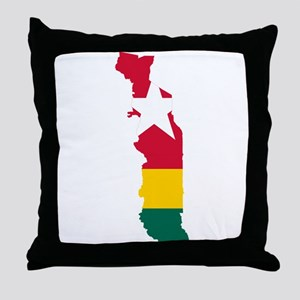 Togo Flag and Map Throw Pillow