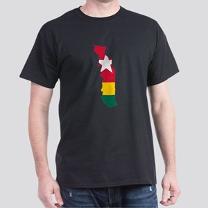 Togo Flag and Map Dark T-Shirt