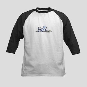 Samoyed Time Out Kids Baseball Jersey