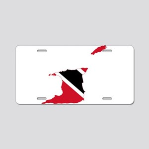 Trinidad and Tobago Flag and Map Aluminum License