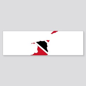 Trinidad and Tobago Flag and Map Sticker (Bumper)