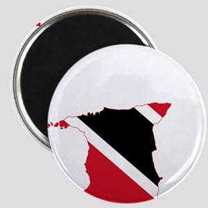 Trinidad and Tobago Flag and Map Magnet