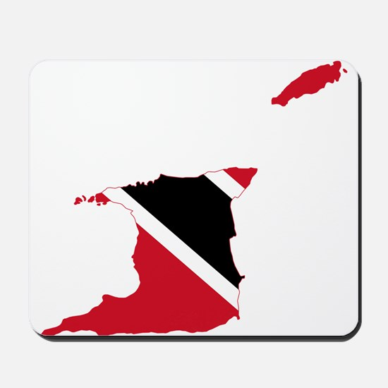 Trinidad and Tobago Flag and Map Mousepad
