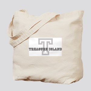 Treasure Island (Big Letter) Tote Bag