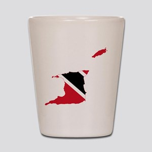 Trinidad and Tobago Flag and Map Shot Glass
