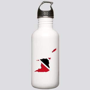 Trinidad and Tobago Flag and Map Stainless Water B