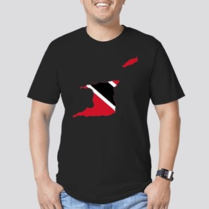 Trinidad and Tobago Flag and Map Men's Fitted T-Sh
