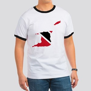 Trinidad and Tobago Flag and Map Ringer T