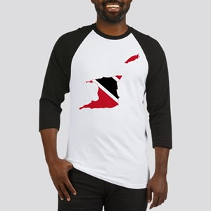 Trinidad and Tobago Flag and Map Baseball Jersey