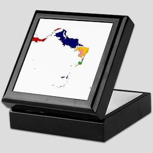 Turks and Caicos Islands Flag and Map Keepsake Box