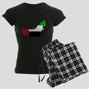 United Arab Emirates Flag and Map Women's Dark Paj