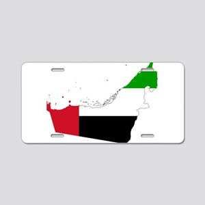 United Arab Emirates Flag and Map Aluminum License