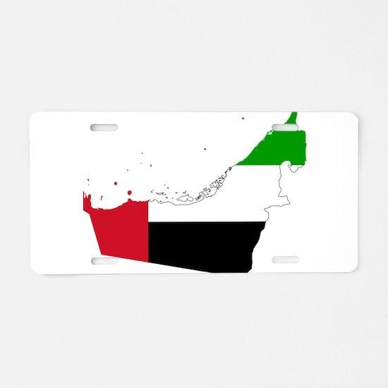 United Arab Emirates Flag and Map Aluminum License
