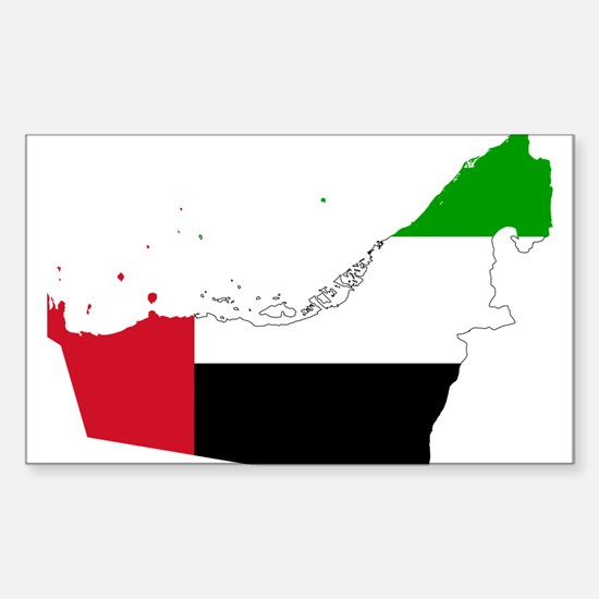 United Arab Emirates Flag and Map Decal