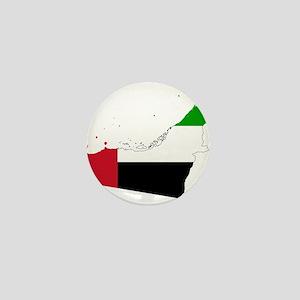 United Arab Emirates Flag and Map Mini Button