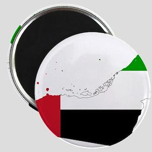 United Arab Emirates Flag and Map Magnet