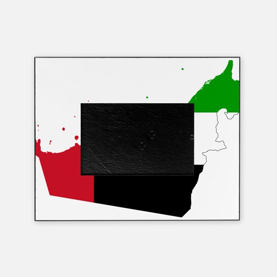 United Arab Emirates Flag and Map Picture Frame