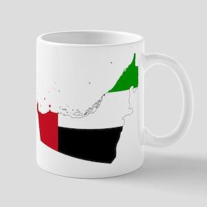 United Arab Emirates Flag and Map Mug