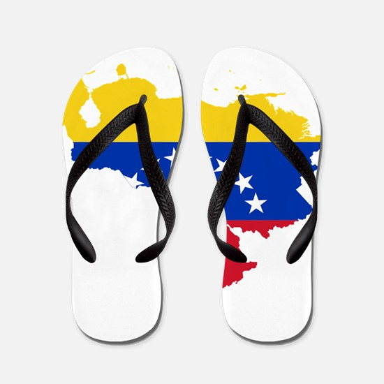 Venezuela Flag and Map Flip Flops