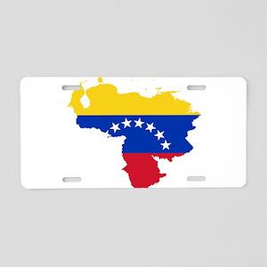 Venezuela Flag and Map Aluminum License Plate