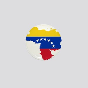 Venezuela Flag and Map Mini Button