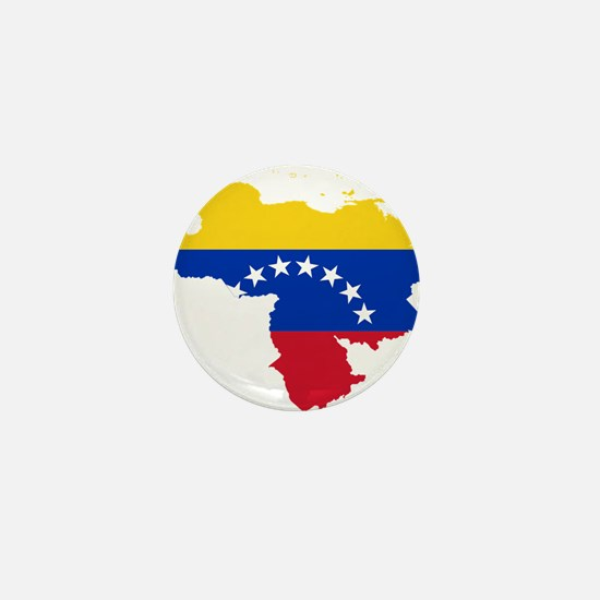 Venezuela Flag and Map Mini Button