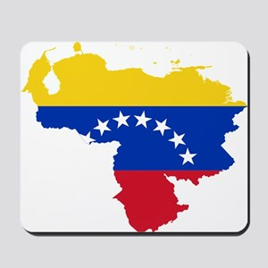 Venezuela Flag and Map Mousepad