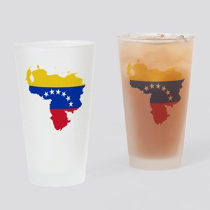Venezuela Flag and Map Drinking Glass