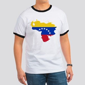 Venezuela Flag and Map Ringer T